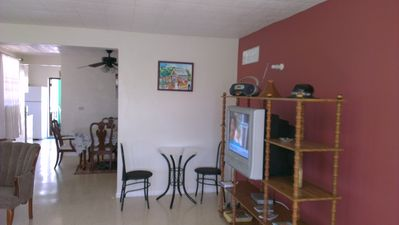 Photo for Air conditioned 3 bed apartment 5 minutes walk from the beach and shops