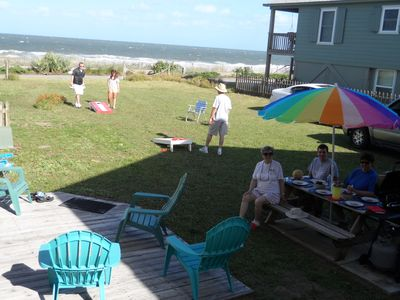 Are we having fun yet? Huge Oceanfront Yard for Family  fun and Entertaining.