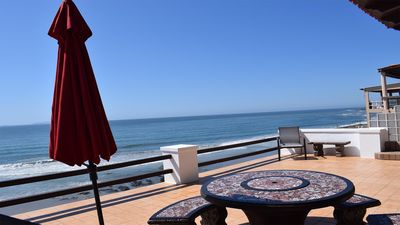 Photo for OCEANFRONT - Stylishly decorated 4 story vacation villa w/ private beach access!