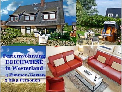 Photo for 4-ROOM-APARTMENT WITH GARDEN / Westerland - 4 room apartment SYLTER DEICHWIESE with terrace