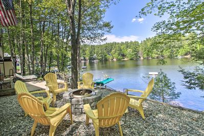 You and your crew will love the home's private waterfront space.
