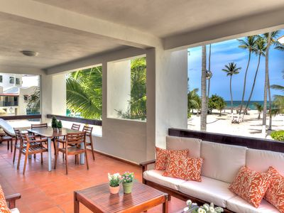 Photo for Oceanfront Apartment with beach views and large balcony