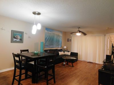 Living/Dining area and patio door