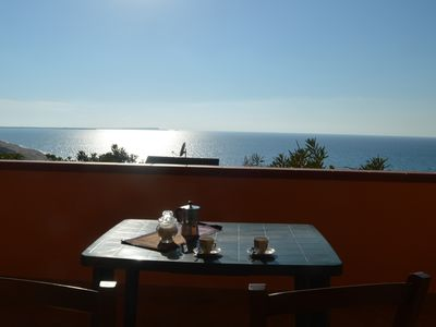 Photo for Green apartment with sea view terrace