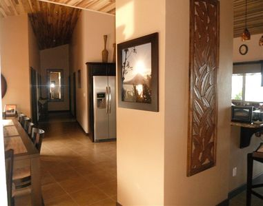 Dining room and kitchen area
