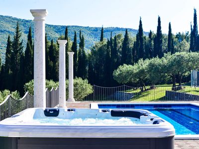 Photo for Perfect getaway villa with pool,tennis,football,basket ball,gym,hottub, cellar