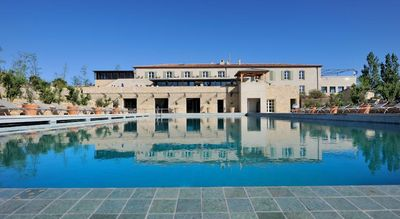 The large pool with spa facilities which is beside Villa