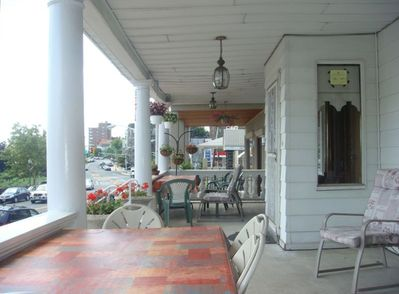 Having dinner or breakfast at the porch is part of a lovely experience!