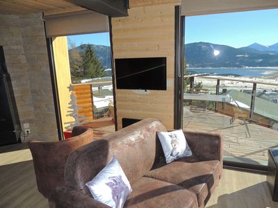Photo for Apartment WOLF in new chalet with view of Lake Matemale 11 sleeps