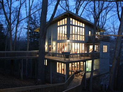 Photo for Tree Tops - Stunning ' Treehouse' With Upscale Amenities In A Memorable Setting