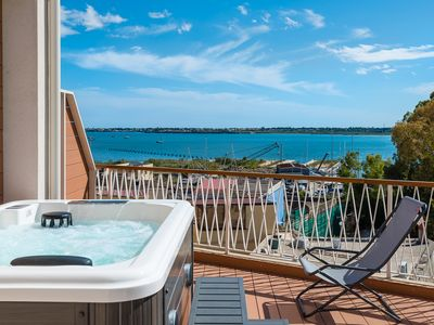 Photo for Deluxe Two-Room Apartment with Jacuzzi on the Terrace