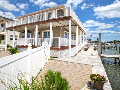 Photo for Bayfront With Unobstructed Bay Views! 6 Bedrooms 4 Bathrooms Handicap Accessible