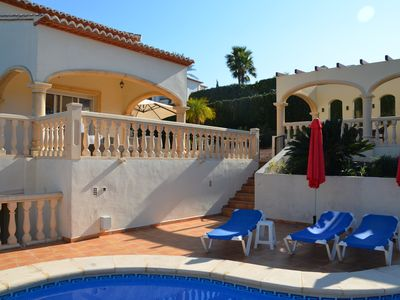 Photo for Modern villa with private pool, air conditioning and panoramic views