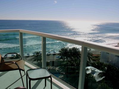 Photo for OCEAN VIEW APARTMENT ON THE BEACH !! POOL, GYM, WIFI, PARKING. 2 BEDS 1-1 / 2 BAT