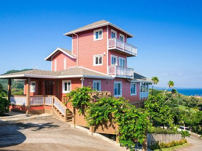 Photo for Spectacular hilltop home with Caribbean Sea views from every room!