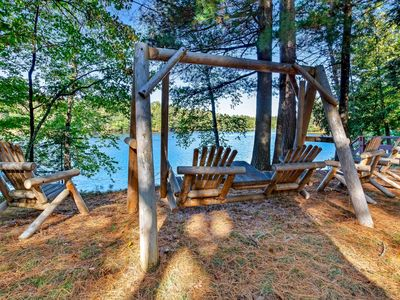 Photo for Charming riverfront home w/fireplace, dock & canoe - close to town!