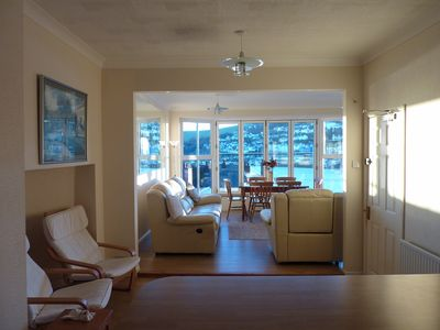 View from kitchen into lounge