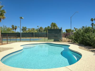 Photo for Private tennis court, pool, built-in BBQ, and large lot
