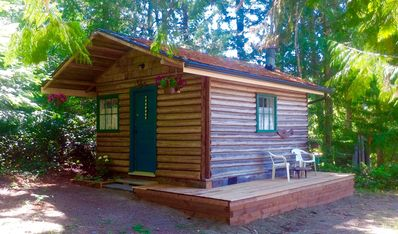 Photo for Newly Renovated Rustic Log Cabin on Scenic Vancouver Island, Canada