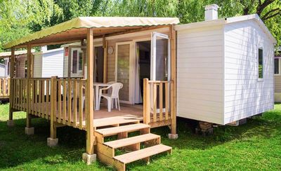Photo for Camping Les Mijeannes *** - 3-room mobile home 4/6 people
