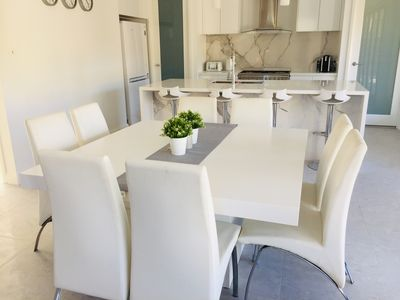 Kitchen and 8 seater dining
