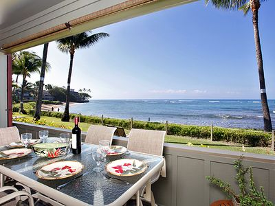Photo for Kahana Village #25 Ocean Front Prime Luxury Ground Level