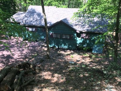 Photo for Cozy Tucked-In Lake Harmony House For Rent