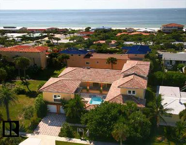 Aerial View Home - Two Blocks to Beach and Gulf of Mexico