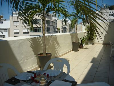 Photo for 2 apartments Copacabana right near the beach together or apart to 8 places