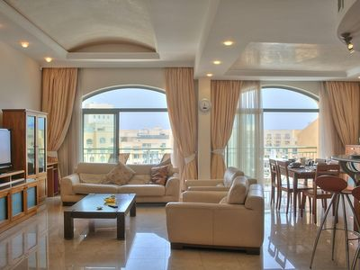 Photo for Spacious Portomaso Marina apartment in Malta with WiFi, integrated air conditioning, private parkin…