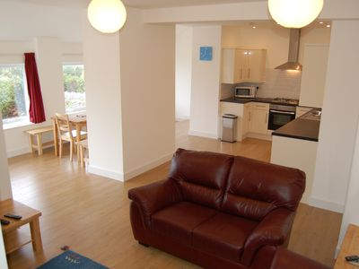 Photo for Luxury Apartment, Stunning Sea Views, 5 minutes stroll from the bay