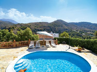 Photo for Traditional villa w/ striking mountain views, spacious garden and nearby amenities