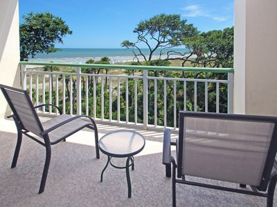 Photo for Oceanfront condo with shared hot tub & pools and two balconies!