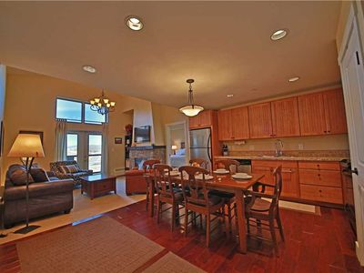 Photo for Lovely ski-in/ski out condo with expansive mountain views and indoor parking