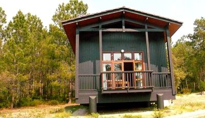 Photo for Charming wooden chalet located 300m from the lake and downtown