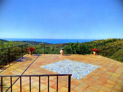 Photo for Sea view holiday home nestled in olive grove, 5 minutes from the beaches, 10 from the town