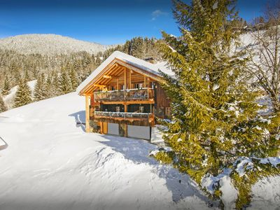 Photo for Enjoy the hot tub in the snow at this stylish Alpine home - OVO Network