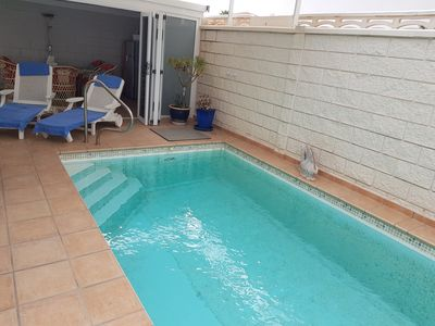 Photo for Holiday house with heated private pool Close to the beach Tenerife South Costa Adeje