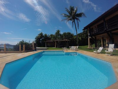 Photo for Beautiful high standard house in Praia Dura 4 suites, swimming pool 200m from the beach.