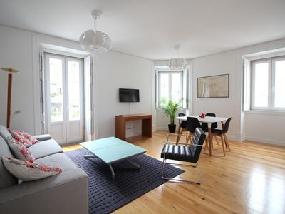 Photo for Cascais 65m2 apartment, 2 bedrooms, historic center, 300m beach