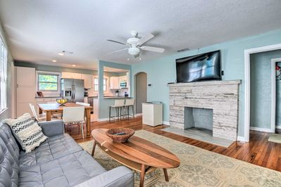 Map out your Daytona Beach retreat to this spacious 3-bedroom, 2-bath home!