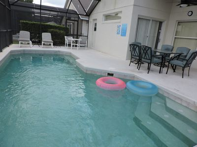Photo for Luxury 4 Bed 3 Bath villa with private pool, close to Disney. Gated Resort.