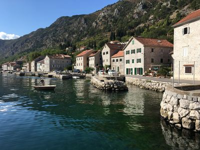 An ancient stone house 4 meters from the sea and a walk to Kotor.