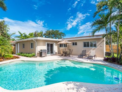 Photo for Welcome To The Coral Gardens Three Bedroom Three Bath Heated Pool Home!