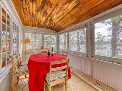 Photo for Lakefront home w/ a dock, wood-burning fireplace, & lovely lake views!
