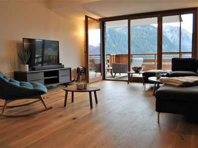"Photo for The new residence ""Les Flambeaux"" is located on the heights of the village of Châtel, and nearby"