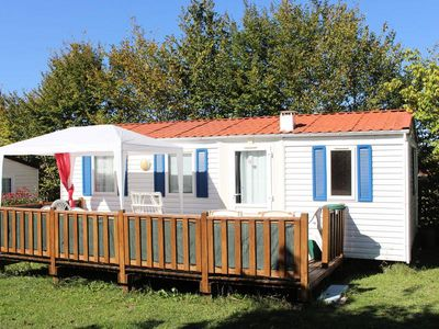 Photo for Camping Le Pontis *** - Mobilhome for 6 People
