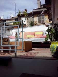 Photo for 3 rooms with terrace, quiet street, old downtown Antibes, near beach + parking