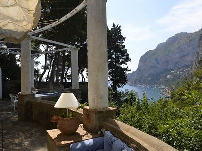 Photo for Villa Acquamarina: A spacious two-story villa situated in a quiet location, at a short distance from the famous Piazzetta of Capri.
