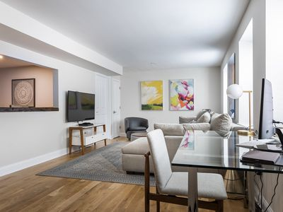 Photo for Spacious 2BR Duplex Steps from PATH Trains to NYC